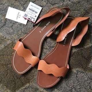 BNWT Zara leather sandals