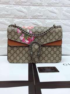 Gucci floral chain sling bag
