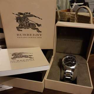 Burberry Automatic Black Dial Stainless Steel Watch
