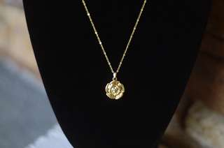 Rose Pendant Necklace in Gold