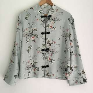 MANGO FLORAL CHINESE SUIT