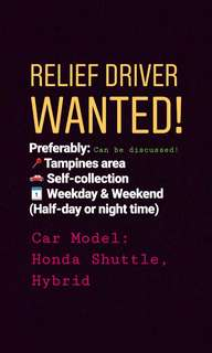 Relief Driver WANTED