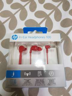 HP In Ear Haedphone 100