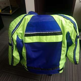 High Visibility Motorcycle Jacket Body Armour with padding