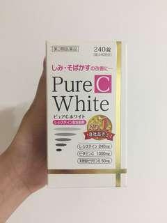 🚚 購於日本 Pure C White 美白錠 240入