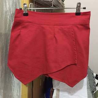 Red Origami Shorts