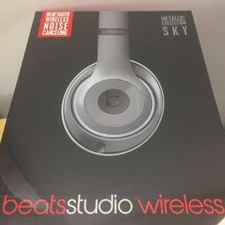 Beats Studio Wireless Over-Ear Headphone - Metallic Sky beats耳罩式藍牙無線耳機銀灰色 (brand new from authorized dealer with receipt全新百老匯行貨有單)
