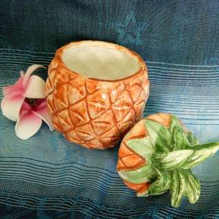 🚚 ANTIQUE 25YEARS ASEAN DAY 1992 Pineapple Porcelain Figurine