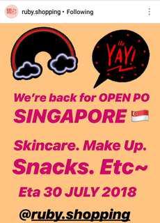 OPEN PO SINGAPORE ETA 30 JULI 2018