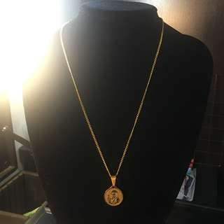 St Benedict Gold Necklace