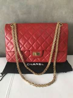 Preloved - VGC  Chanel Reissue Small Red GHW #14  Box DB Holo (no card)