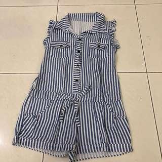Blue Stripes Jumpsuit