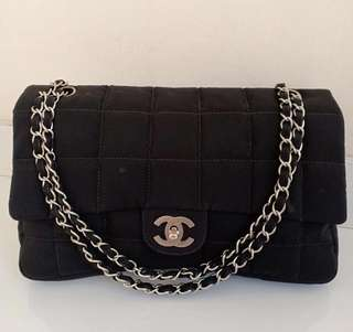 Chanel Flap Black Nylon #7 with Holo only (28x17cm)