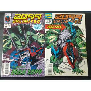 2099 Unlimited #1 & #2 (1st app: Hulk 2099)