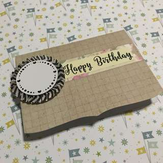 Handmade Customizable Birthday Card