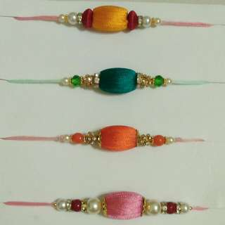 Silk thread beaded Rakhis