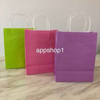Colorful Kraft bag, paper bag, goody bags packages, door gift carrier