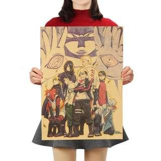 Premium Vintage Style Naruto | Boruto Kaguya Poster