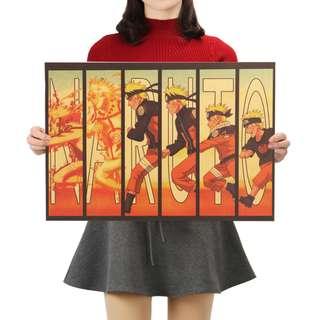 Premium Vintage Style Naruto | Naruto, Minato & Kakashi Poster
