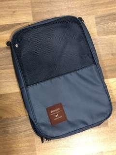 Brand new waterproof nylon mesh Navy blue shoe pouch from Korea