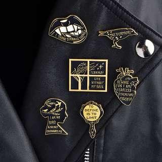Dark Theme Assorted Enamel Pins