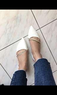 韓版 尖頭 平底鞋 娃娃鞋 底軟