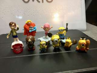 DESPICABLE ME mini character set