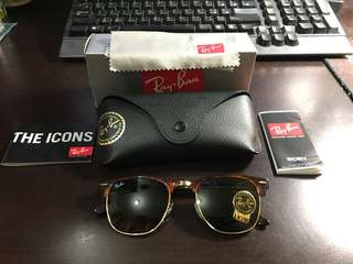 Rayban clubmaster RB3016 W0366 51mm