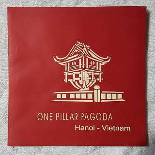 Vietnam Hanoi One Pillar Pagoda Popup Card