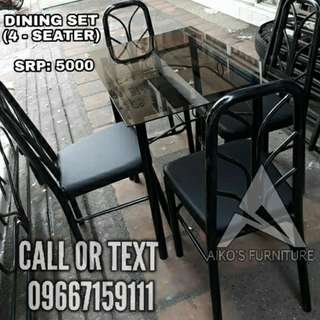 DINING SET (4 SEATER)