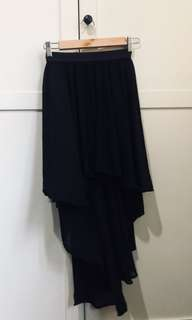 Asymmetrical Black Skirt
