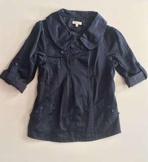 CHLOE Navy Blue Coat