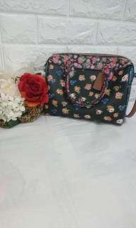 Coach Leather Flower printed Crossbody Bag