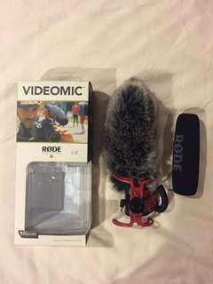 Rode videomic with deadcat