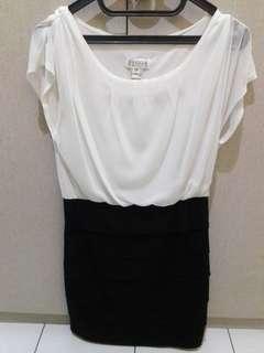 Black n white Dress big size