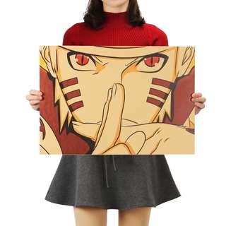 Premium Vintage Style Naruto | Sage Mode Pose Poster