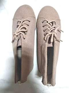 🚚 麂皮平底鞋-24號(藕粉色)