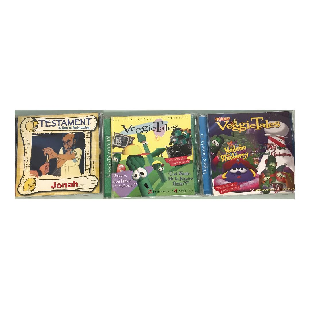 3 X VCD - VEGGIE TALES AND BIBLE STORIES