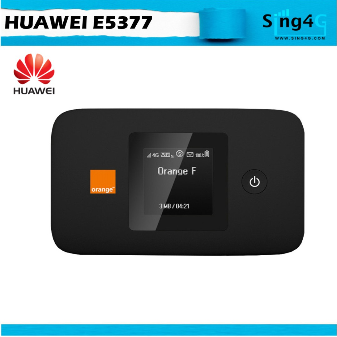 4G SIM ROUTER HUAWEI E5377 (4G 150mbps 10WIFI Share 6 or 12 hr)