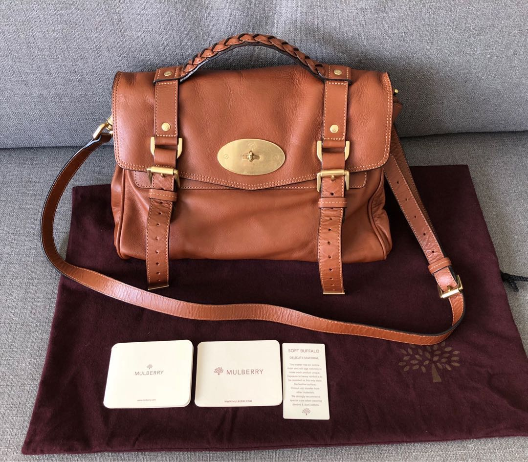 9967500046d1 💯% Authentic Mulberry Alexa medium oak bag