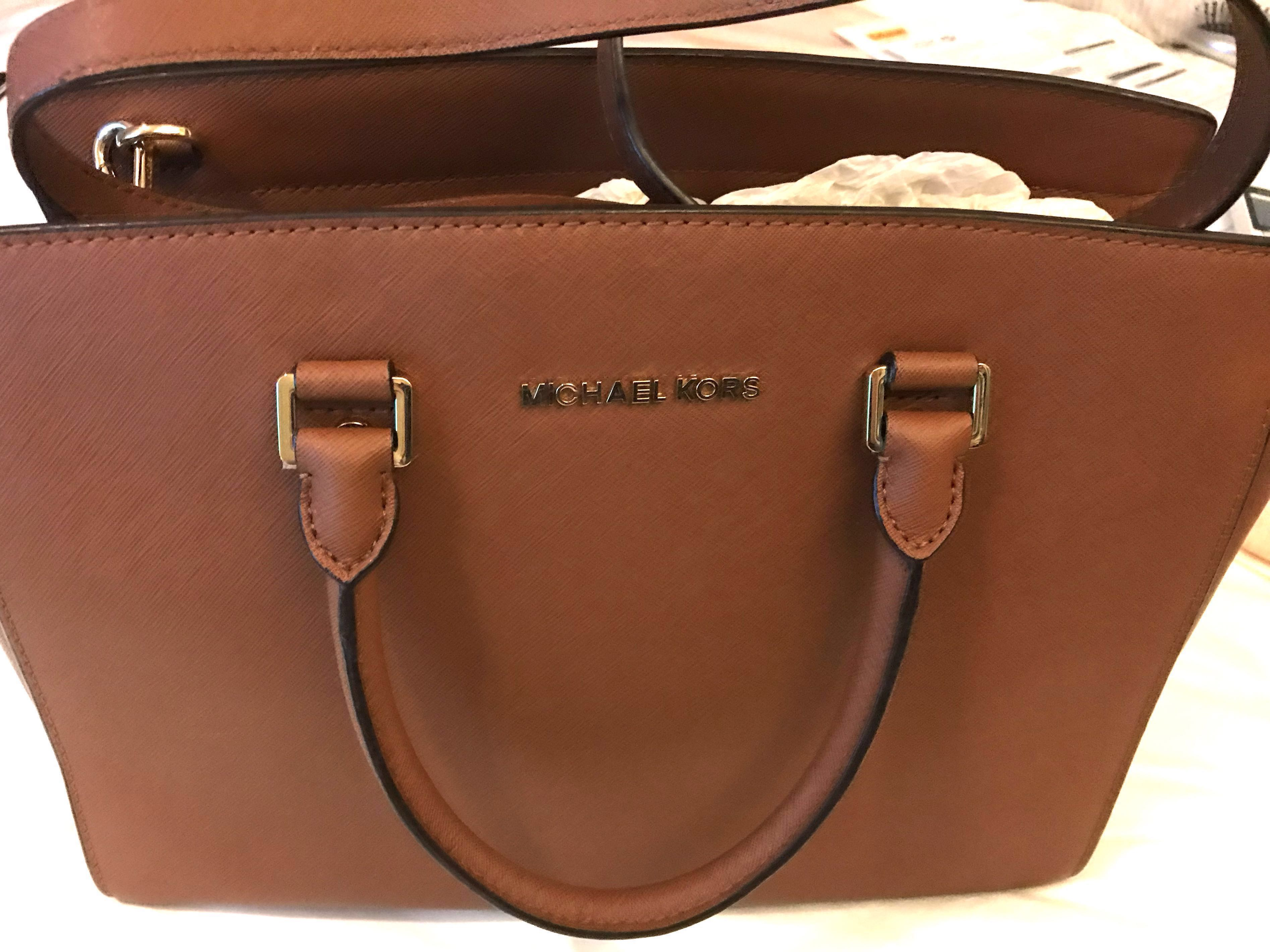 fc174fd84753b Authentic Michael Kors Large Selma Saffiano Leather bag in Luggage ...