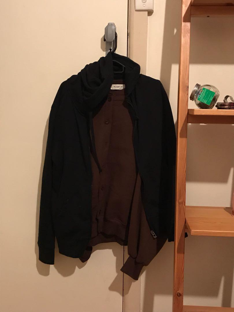 Basic korean black hoodie
