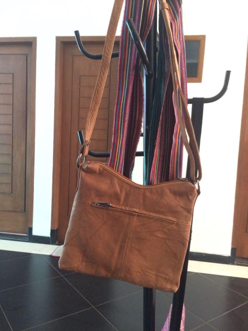 Beige Leather Bag by MyLady