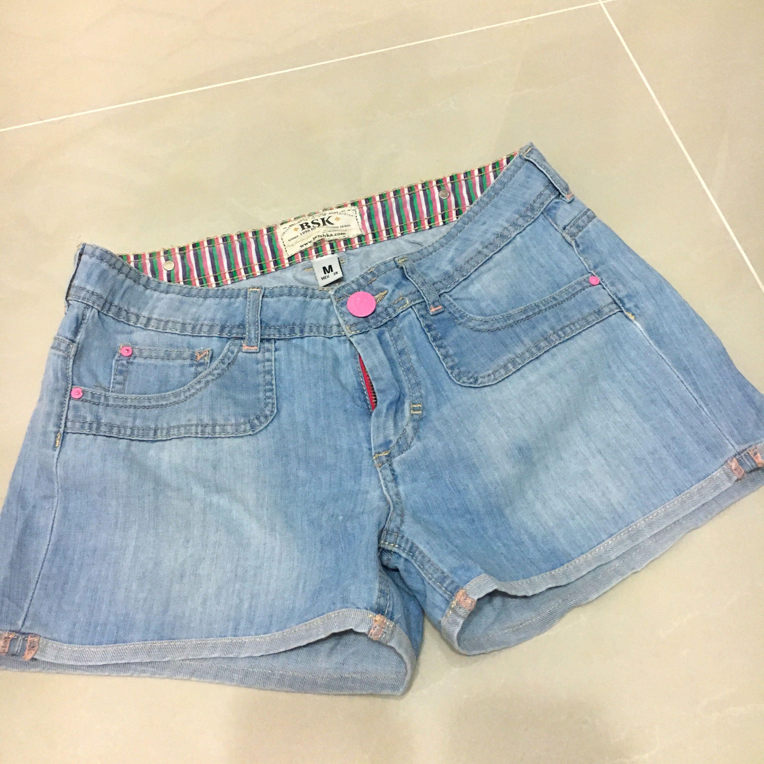 a6558bce48 BERSHKA Denim Shorts (FREE NM), Women's Fashion, Clothes, Pants ...