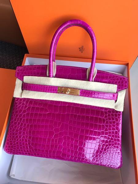 019bdf12267 birkin 25 rose scheherazade shiny nilo (ghw), Luxury, Bags & Wallets,  Handbags on Carousell