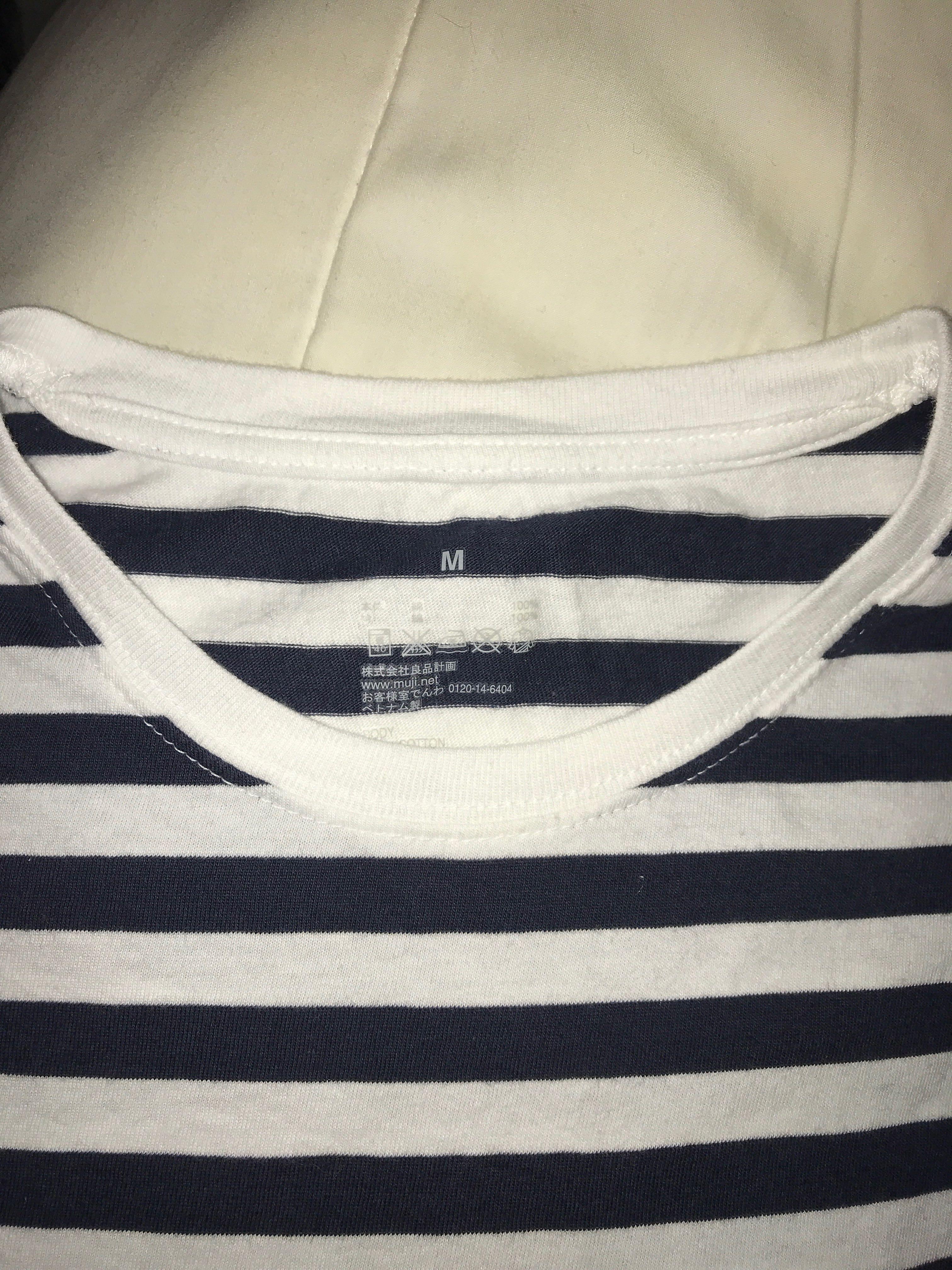 Black Muji striped shirt