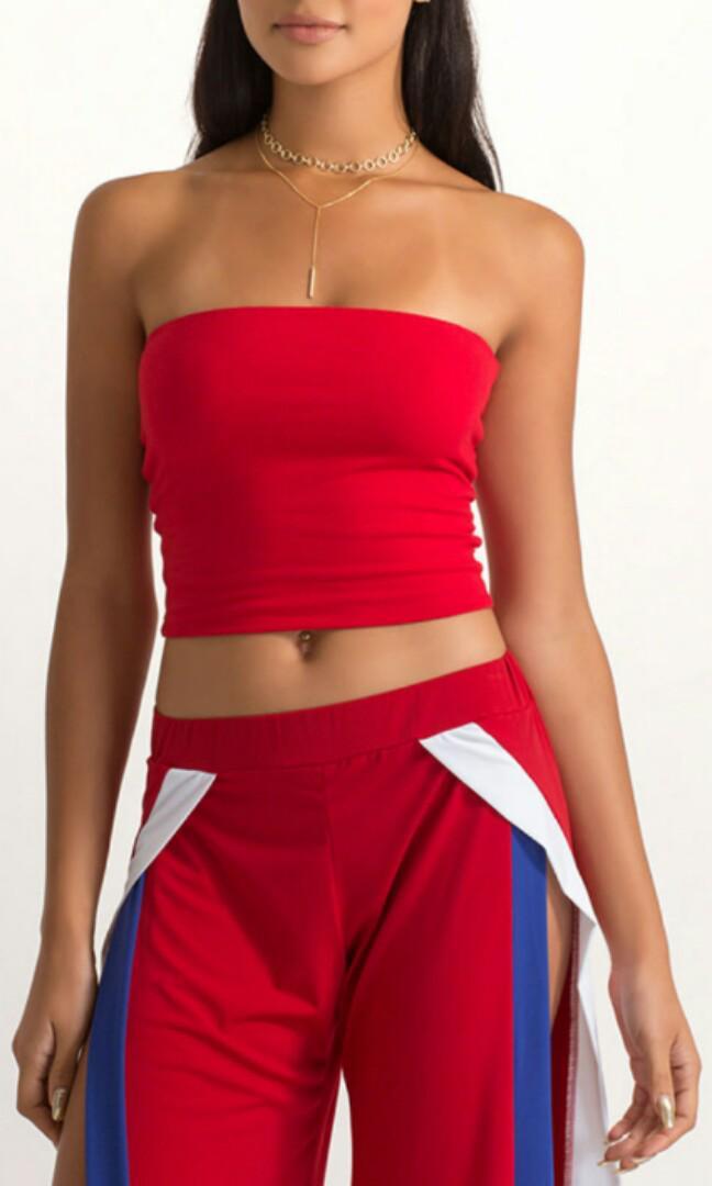 prix le plus bas plus bas rabais magasin britannique bn mango red bandeau, Women's Fashion, Clothes, Tops on ...
