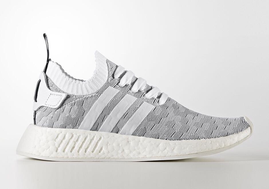Bnib W Tags Original Authentic Adidas Nmd R2 Primeknit Grey By9410 Men S Fashion Footwear Sneakers On Carousell