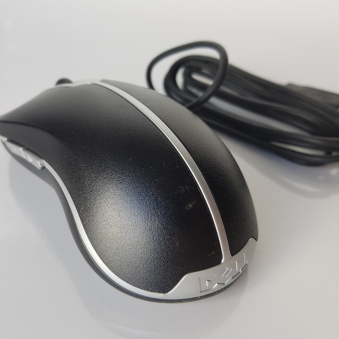 Brand New Dell Usb Optical Wired Mouse Electronics Computer Parts Wireless Wm126 Photo