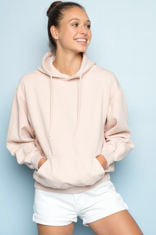 d8865478650 Brandy Melville light blush pink christy hoodie